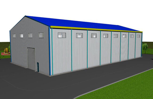 48x25m Steel Warehouse