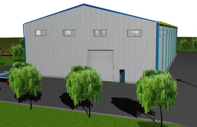 48x25m Steel Warehouse