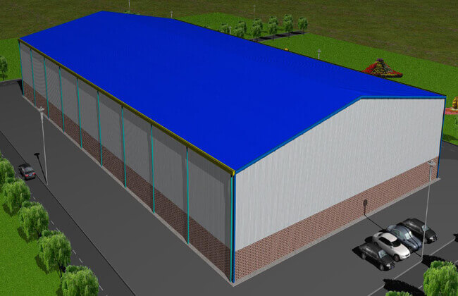 79x50m Aircraft hangar