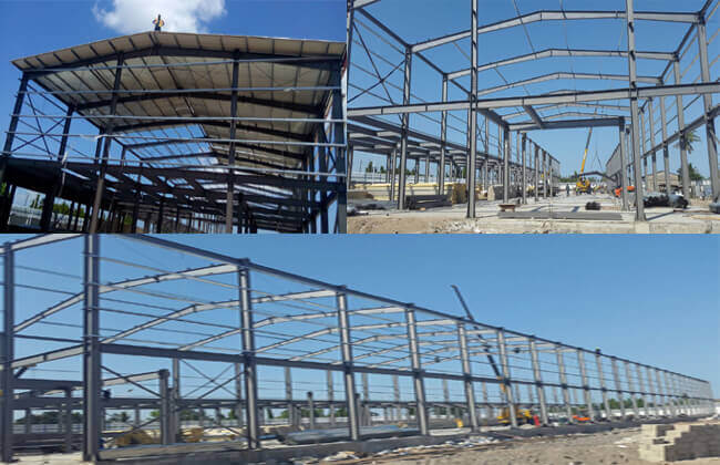 Prefab steel workshop building