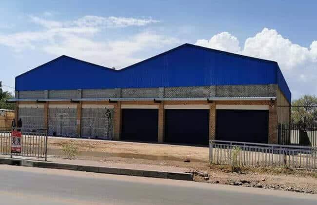 Steel Shop Building In Botswana