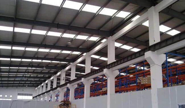 Steel Roof On Concrete Column