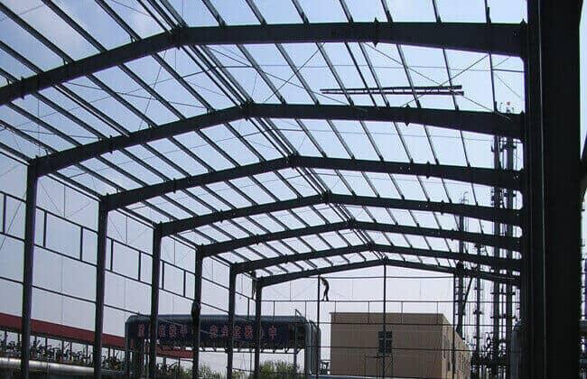 Steel barn building