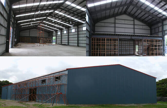 Steel Structure Warehouses In PNG