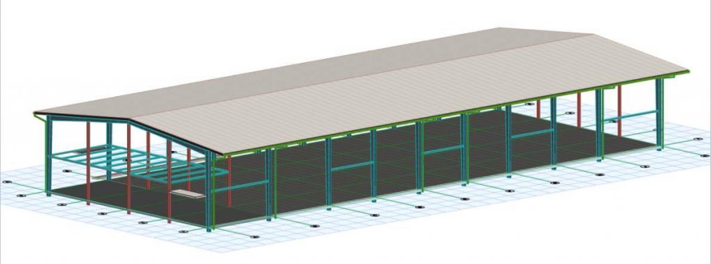 design of Steel Warehouse Building in Tanzania