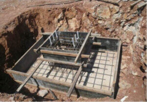 Independent reinforced concrete foundation