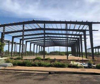 Steel Warehouse Building Installation