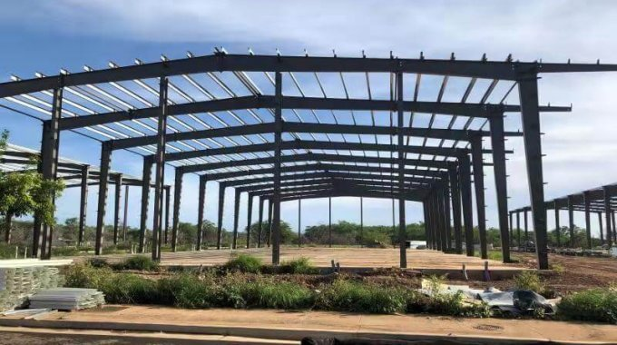 Steel Warehouse Building Installation