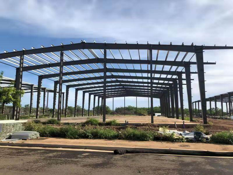 steel warehouse buildings installation