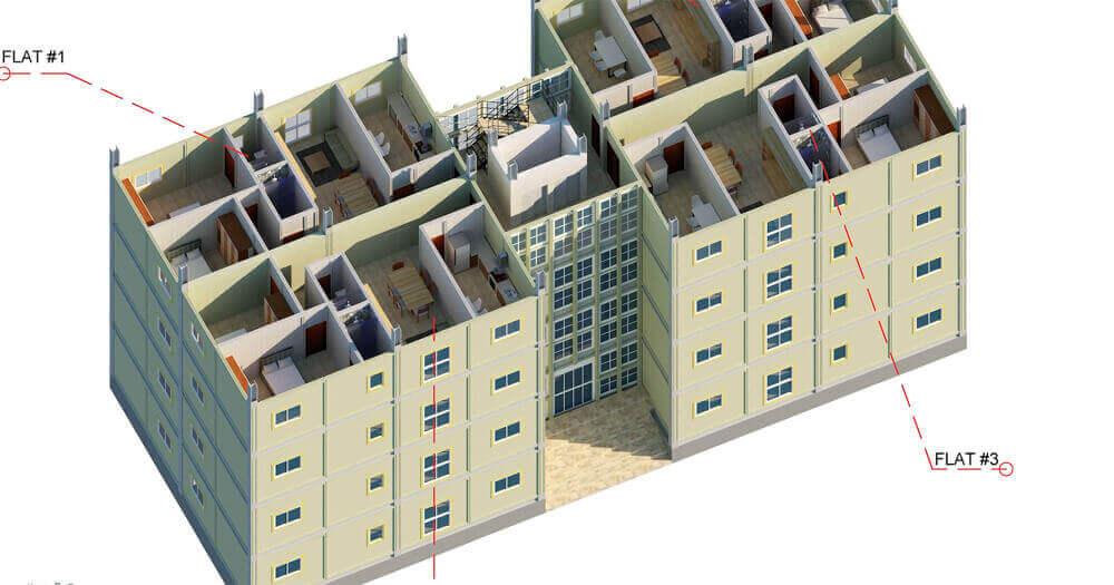 Steel residential building Kits