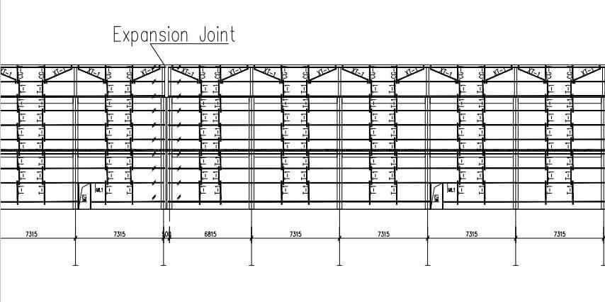 steel building expansion joint