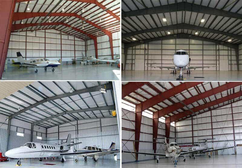 steel structure aircraft hangar