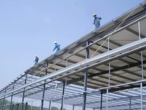 installation of roof panel