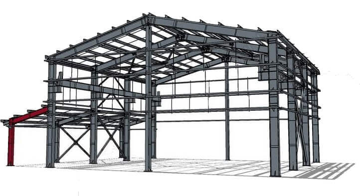 design of steel structure workshop