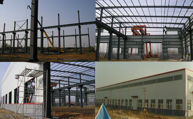 installation of prefab steel warehouse