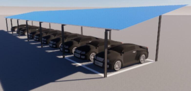 steel parking lots