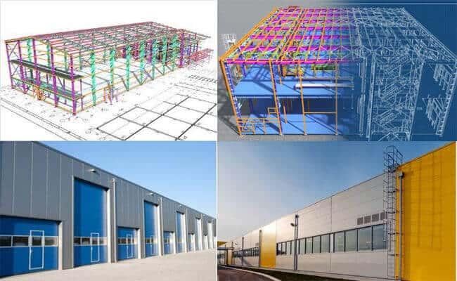 industrial steel garage building