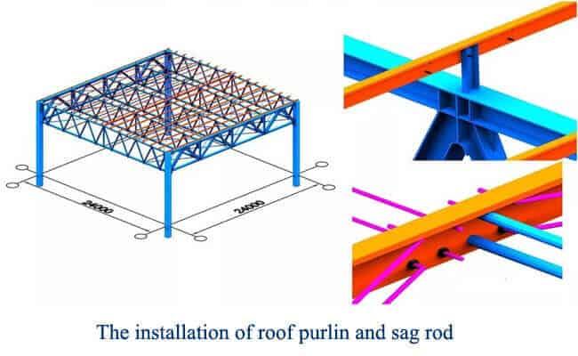 steel truss structure installation