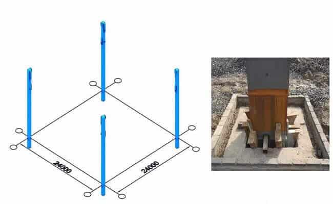 steel truss structure erection