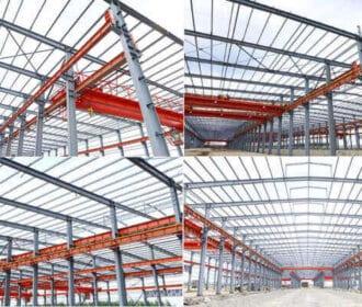 Steel Workshop Building With Crane