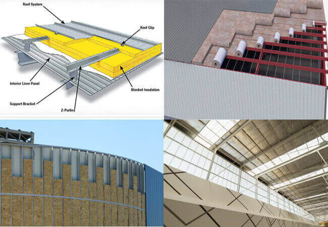 thermal insulation of steel buildings