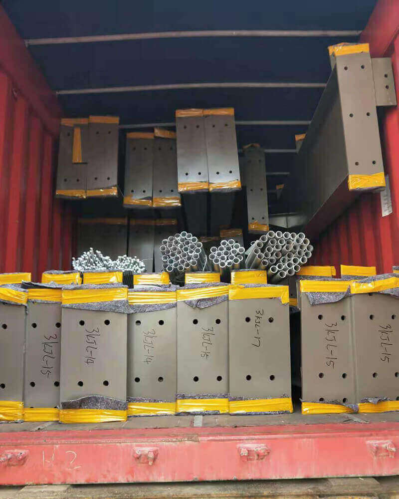 Steel structure packaging and transportation