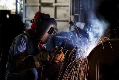 gas shielded welding